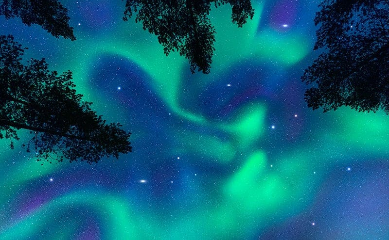 photo showing northern lights in norway
