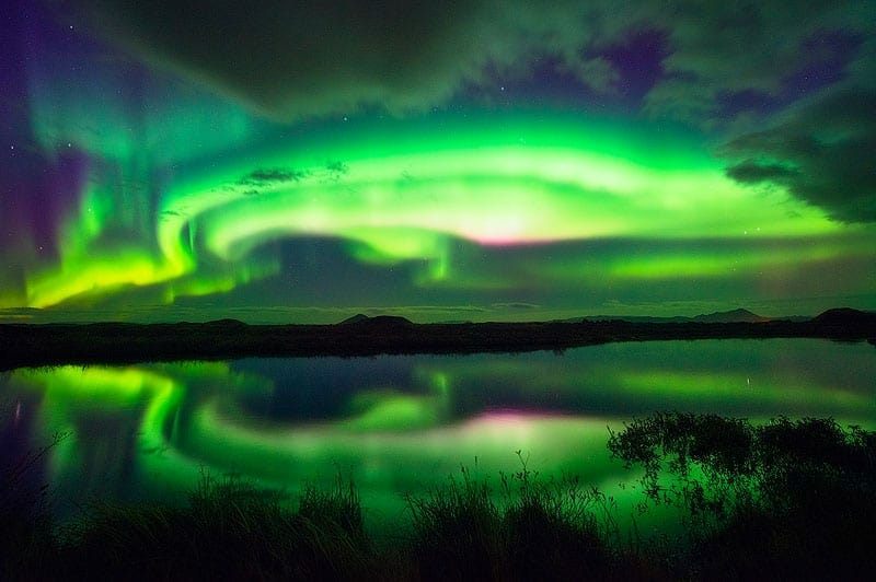 photo of the northern lights in iceland