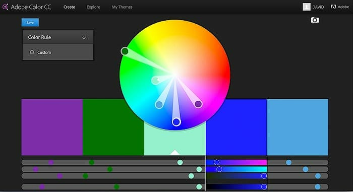 example of cool color hues on rgb color wheel for photography